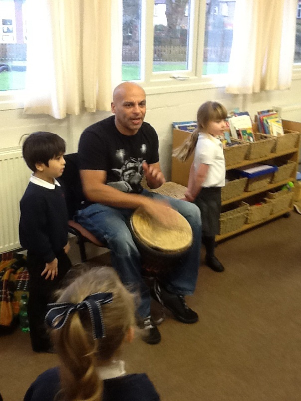 We loved dancing whilst Curtis played his drum.